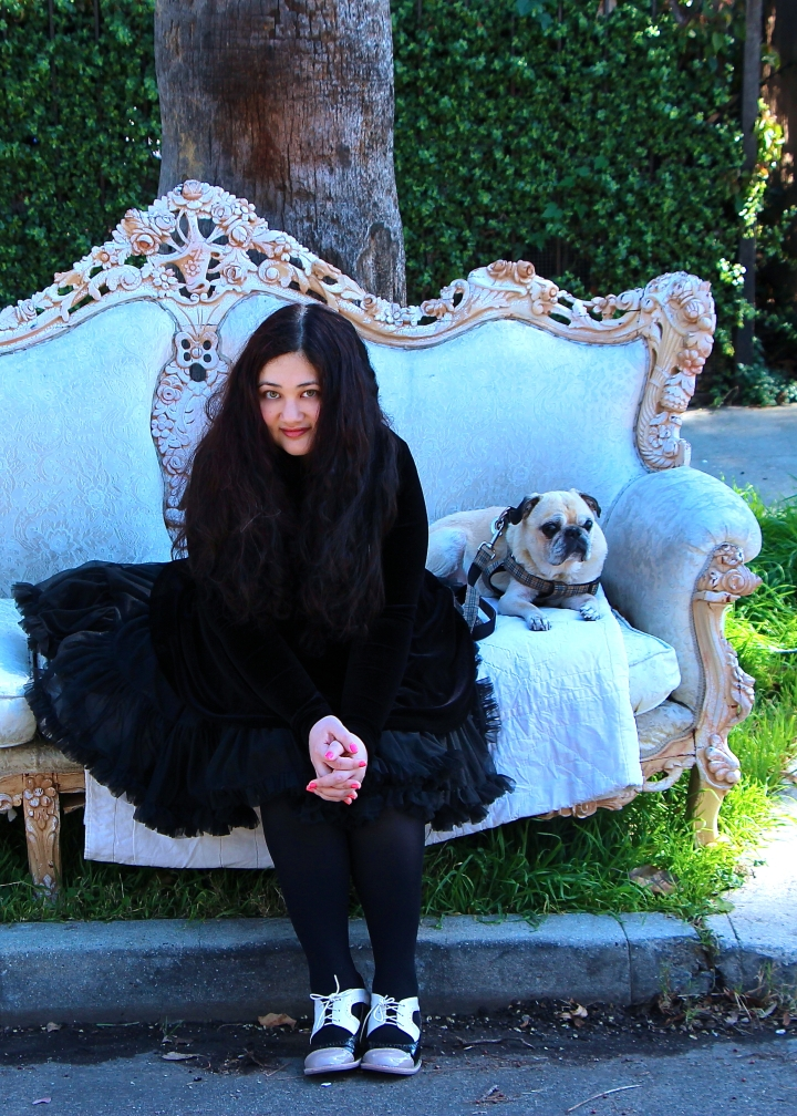 gabrielle with dog